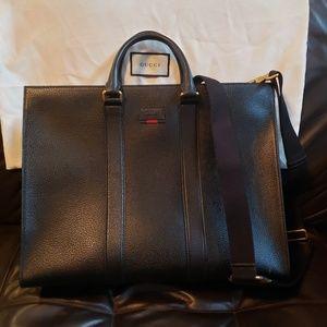 GUCCI Briefcase Black Calfskin